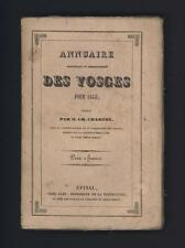 █ Charles CHARTON Annuaire statistique et administratif des VOSGES pour 1848 █