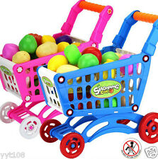Shopping Carts Fruit Vegetable Pretend Play Children Kid Educational Toy BU