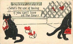 Arts Crafts Cats Comic Humor Artist impression 1907 Postcard 20-1458