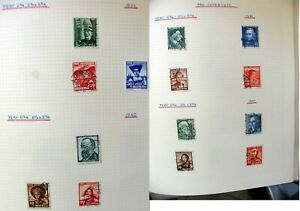 Pro Juventute 1939-1960 mint/used - on 12 pages