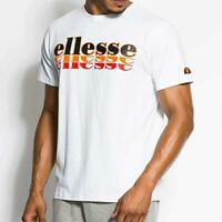 Ellesse Mens Logo T Shirt White Small