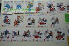 Sabena Belgian Airlines ~ Red Cross Stickers 1983 - 1989 Smurfs Disney Ect (e8)
