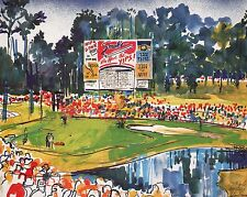 "2 LEROY NEIMAN BOOK PRINTS ""LEADERBOARD"" GOLF SCOREBOARDS WITH ADS WITHOUT ADS"