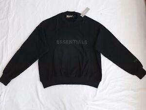 Fear of god essentials black hoodie/sweatshirt