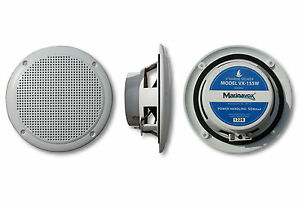 "Marinavox 5"" Full Range Marine Audio Speaker VX-155W WHITE Boat Spa PAIR NEW"