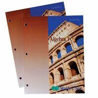 Math U See Algebra I Test Booklet by Steve Demme