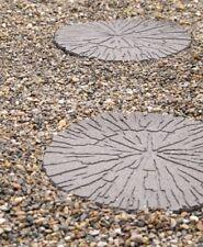 PRIMEUR Rubber Garden Stepping Stone - Cracked Log Earth