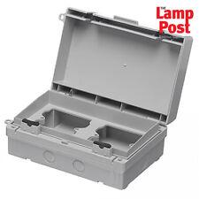 Europa ECWSK21 Waterproof Switch / Socket TWIN Outdoor Enclosure Box