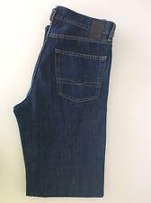 """Hugo BOSS Arkansas MEN'S JEANS, w32"""" l34"""" blu Jeans scuro, slim in buonissima condizione"""