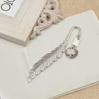 Silver Polished Letter Opener Feather Bookmark Exquisite BookMarker OfficeSupply