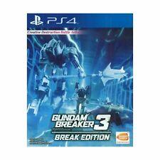Gundam Breaker 3 Break Edition ( English cover  / Subtitle) for Playstation 4