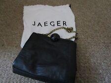 JAEGER SOFT BLACK LEATHER EVENING BAG/PURSE WITH DUST BAG