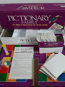 Pictionary Family 1994 Vintage COMPLETE board Game Parker Brothers 1994