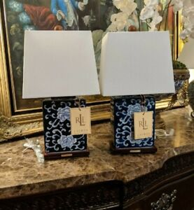 Ralph Lauren Chinoiserie Style Lamps Set Of 2