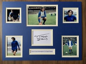 """Birmingham City Trevor Francis Signed 16"""" X 12"""" Double Mounted Display"""