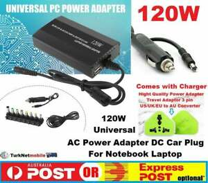 120W Universal Laptop Charger AC Adapter for use at home and car
