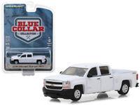 2018 Chevrolet Silverado 1500 White Diecast Model - 1:64 Greenlight 35100F*