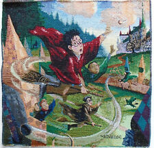 """Harry Potter Jacquard Tapestry Panel 18 x 18 inch """"Hogwarts Quidditch Match"""""""