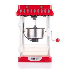 Vitinni Electric Retro Cinema Style Kettle Popcorn Popper Maker Machine