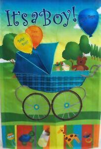 It's a Boy Birth Announcement House Standard House Flag by Premier Designs #2476