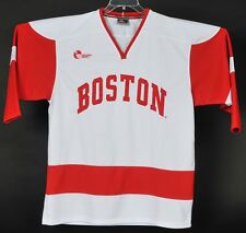 Boston University Hockey East Sewn Jersey Colosseum Mens L Red White Terriers