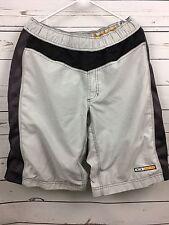 Mens Oakley Software Gray Black Baggy Padded Cycling Mountain Bike Shorts Sz L