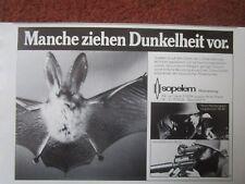 10/1984 PUB SOPELEM ARMEMENT CHAUVE SOURIS NIGHT VISION NACHTSICHT GERMAN AD