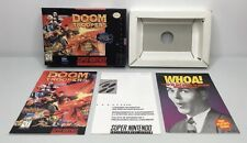 SNES Doom Troopers Original Box/Tray + Manual + Inserts *Authentic* *No Game*
