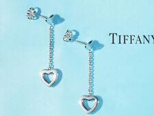 Tiffany & Co Sterling Silver Heart Link Drop Earrings