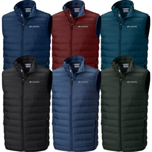"New Mens Columbia ""McKay Lake"" Heat Seal Packable 650-Fill Down Winter Vest"
