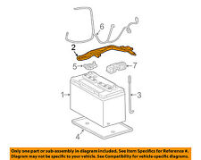 TOYOTA OEM-Battery Hold Down Tie Bracket Clamp 7448126020
