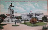 Washington, DC/DOC 1910 Postcard: US Treasury & Sherman Statue