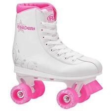 RDS Roller Star 350 Girls Quad High White Roller Skates US Kids Size 3