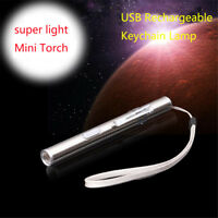500lm Lamp Pocket Flashlight Torch LED Pen Size Q5 USB Rechargeable Hot