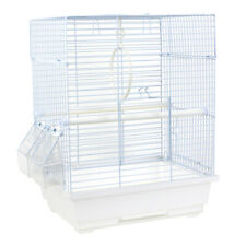 Portable Small Bird Cage For Finch Lovebird Cockatiel Travel Cage 39cm White UK