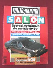 L'AUTO-JOURNAL  N° SPECIAL SALON SEPTEMBRE 1989  modèles 90
