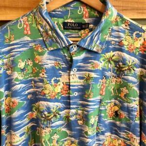 EUC Polo Ralph Lauren Hula Island Surf All over Print Shirt Golf 3XL Tall 3XLT