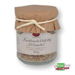 """(59,50 EUR/ kg Gourmet Berner Dip Spezialität Knoblauch Chili """"El Goucho"""", 100 g"""