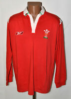 WALES 2000`S RUGBY UNION SHIRT JERSEY REEBOK SIZE L ADULT