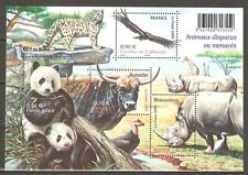 FRANCE 2009...Miniature Sheet n° 128 MNH ** Disappeared or Threatened Animals