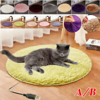 Pet Electric Heating Blanket USB Heated Mat Pad Cat Dog Winter Warmer Waterproof