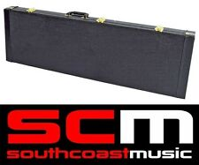 VCASE RECTANGULAR BASS GUITAR HARD CASE PLUSH LINED HARDCASE TO SUIT MOST BASSES