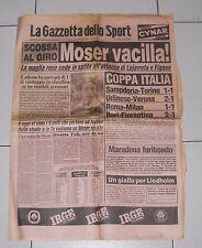 La Gazzetta dello Sport GIRO D'ITALIA 1984 Moser vacilla 8 giugno Ciclismo