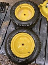 Nice Set Tires John Deere D170 L130 155C LA165 LA175 Rear Tires Rims 22X9.50-12