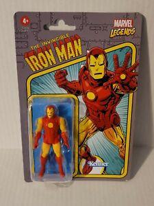 "IRON MAN Marvel Legends Retro Invincible Ironman 3.75"" Figure Hasbro Kenner New"