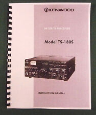 Kenwood TS-180S Instruction Manual - Premium Card Stock Covers & 28 LB Paper!