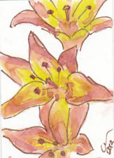 Watercolour Floral ACEO (2.5x3.5in.) Size Art Paintings