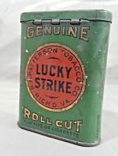 Lucky Strike Genuine Roll Cut Tobacco advertising tin pocket cigarettes sample
