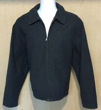 Eddie Bauer Men XL Insulated Jacket Charcoal Gray Quilt Lining Warm Soft Clean