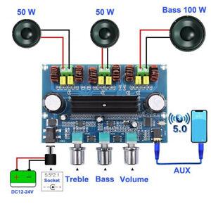 Bluetooth 5.0 TPA3116D2 Digital Amplifier Board 2*50W+100W Stereo Audio Module